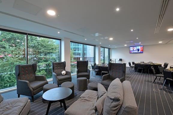 players lounge hotel football